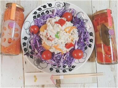 写真:里芋のサラダ