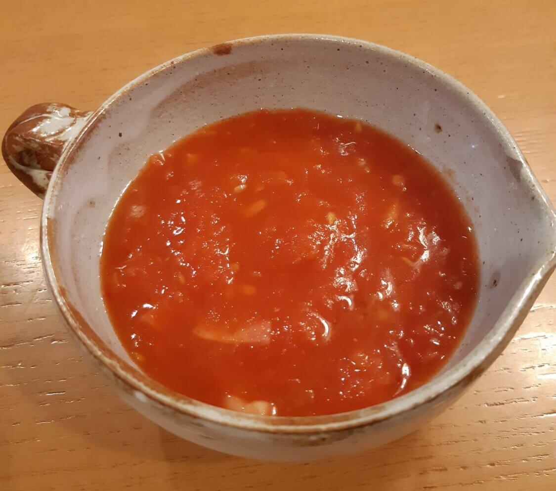 写真:100%トマトスープ